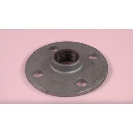 25mm Round Screwed Flange
