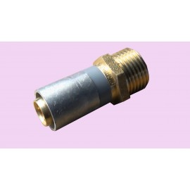 15mm buteline male adaptor brass