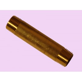 15mm x 90mm Brass long barrel nipple