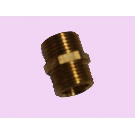 15mm brass hex nipple