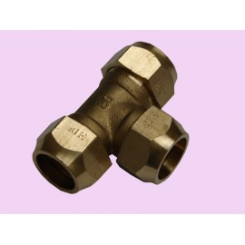 20mm Brass crox tee