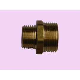 20mm x 15mm Brass crox nipple