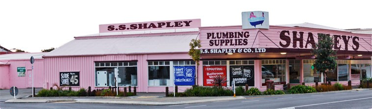 Welcome to the Pink Plumbing Shop